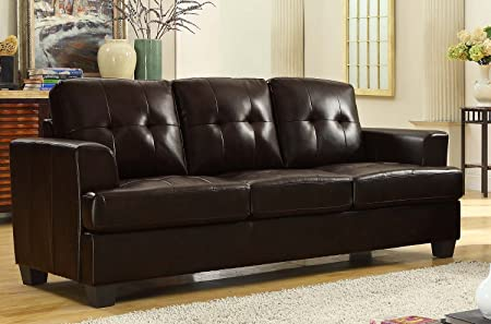 Homelegance Keaton Sofa in Brown Leather