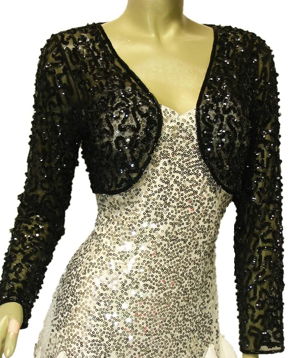 Gold, Silver, Sequined and Beaded Bolero Jackets and Shrugs