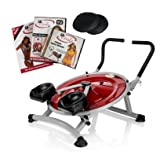 Ab Circle Pro Abs And Core Home Exercise Fitness Machine + DVD PRO (Color: Red, Tamaño: Newer V2.0)