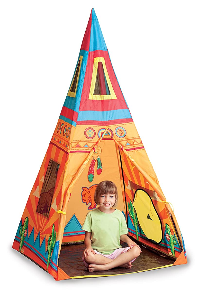 "Pacific Play Tents Kids Santé Fe Giant Teepee Tent - 36"" x 36"" x 67"""