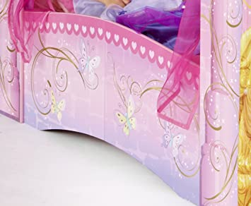 worlds apart 864219 864219 classique lit pour enfant disney princesses princesses en forme. Black Bedroom Furniture Sets. Home Design Ideas