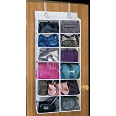 12 PURSE OVER THE DOOR ORGANIZER