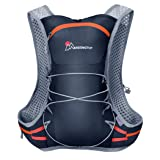Mardingtop Hydration Pack Hiking Backpack Vest for Biking Hiking Running Cycling (Color: Purplish Blue)