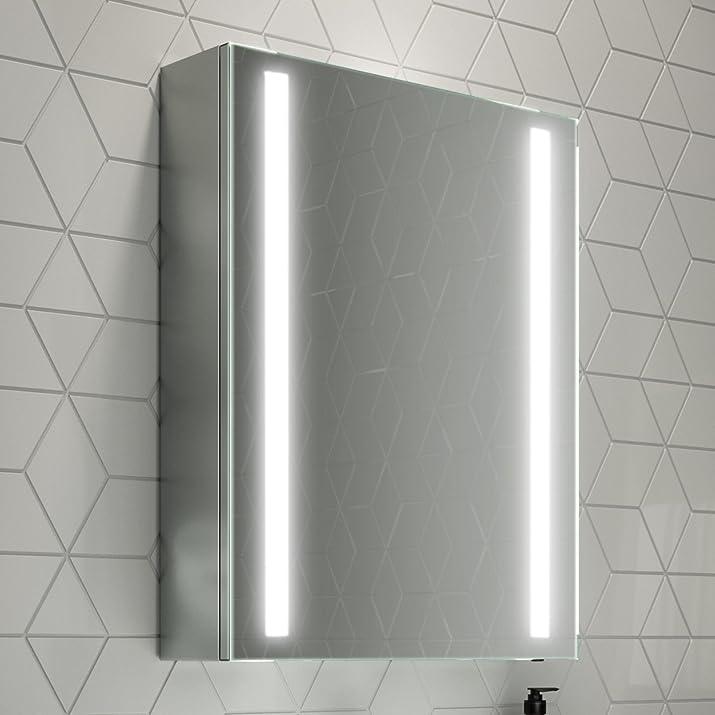 Soak Armadietto a Specchio per Bagno, Illuminazione a LED, Sensore di Movimento, 500 x 650 mm