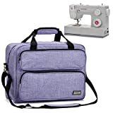 HOMEST Sewing Machine Carrying Case, Universal Tote Bag with Shoulder Strap Compatible with Most Standard Singer, Brother, Janome, Purple (Patent Pending) (Color: Purple)