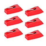 UPINS Record Player Needle Stylus Replacement Turntable Needle for Vinyl LP Phonograph (6 Pack) (Color: 6 Pack)