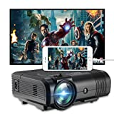 Projector, Weton 2200 Lumens Video Projector 1080P Portable Mini Projector Multimedia LED Projector Home Theater Movie Projector Support HDMI, USB, VGA, AV for IOS Android Smartphone (Plug and Play) (Color: L10)