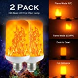 (2 Pack) Golspark LED Flame Effect Light Bulb, 7 Watt Standard E26 Base Flickering Fire Light, Halloween & Christmas Holiday Atmosphere Decorative Lamp, 4 Mode Type (Color: Newest Tpye (7 Watt - 2 Pack))