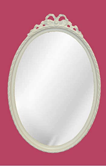 Hickory Manor House Oval with Bow Mirror, Bright White