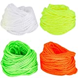Qinlee 40 Pcs YoYo Strings Polyester Rope Replacement(10 Each - Green, Yellow, Orange, White) Kids Toys Gifts Classic Toys