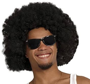 Perruque afro disco noire adulte: Purchase!