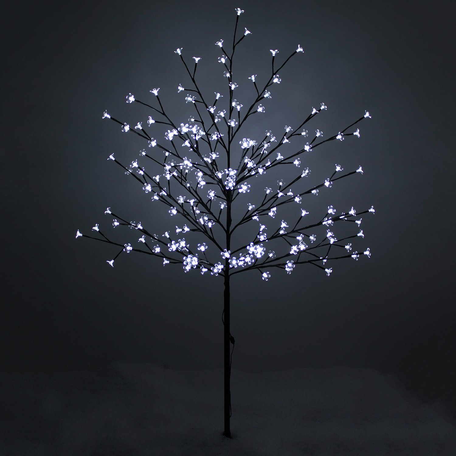 led lights outdoor blossom tree outdoor pre lit christmas tree ebay. Black Bedroom Furniture Sets. Home Design Ideas