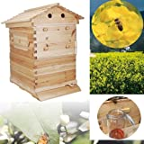 Simoner Automatic Beehive, Self-Flowing Honey Bee Hive, Honey Bee Box House for Beginners and Pro Beekeepers