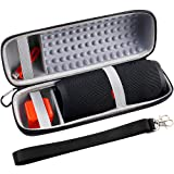 Hard Travel Case for JBL Charge 4 Portable Waterproof Wireless Bluetooth Speaker, Fits USB Cable with Strap(Grey)