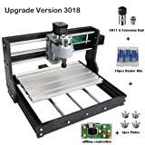 Upgrade Version CNC 3018 Pro GRBL Control DIY Mini CNC Machine, 3 Axis Pcb Milling Machine, Wood Router Engraver with Offline Controller, with ER11 and 5mm Extension Rod (Tamaño: 3018 Pro)