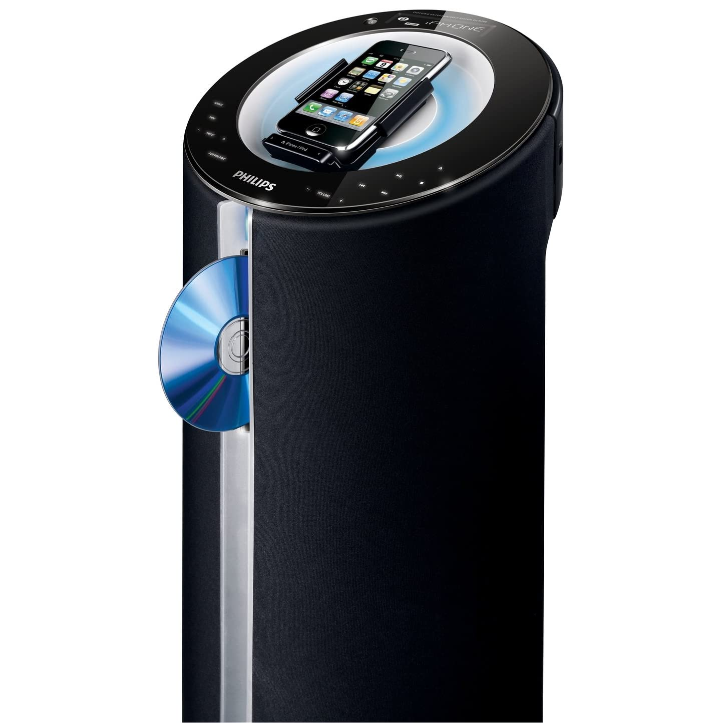 acheter philips dcm580 12 station d 39 accueil pour ipod iphone enceinte colonne 140 w rms. Black Bedroom Furniture Sets. Home Design Ideas