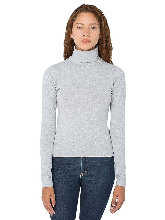American Apparel - American Apparel Women's Cotton Spandex Jersey Long Sleeve Turtleneck Tee