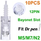 Dr. Pen Replacement Cartridges Disposable Needles, Compatible With Dr. Pen Ultima M5/M7/N2, Individually and Sealed Bags in Dr. Pen Original Box (10pcs 12 Pins) (Tamaño: 12 Pins (10 PCS))