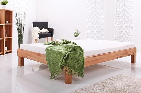 Massivholzbett Buche Holzbett Bettgestell massiv Bett Doppelbett Jonas-1, Größe:140x200