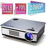 Projector, 2018 Upgraded Crenova A76 1080P HD Home Video Projector Multimedia Home Theater Movie Projector with 180