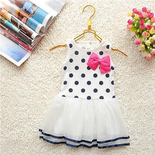 Kids-Baby-Girls-Clothes-Polka-Dot-Bow-One-piece-Dress-Skirt-Child-Summer-Dress