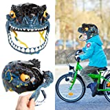 Raskullz Bike Helmet Kids 5-8 Dino T Rex Mask Bicycle Helmet for Boys Girls Skateboard Rollerblading