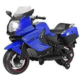 Uenjoy Kids Motorcycle Electric Ride On Motorcycle 12V/ 2 Wheels/ Blue (Color: Blue 1, Tamaño: 41
