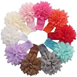 10 Pieces Baby Headbands – Girl's Lace Flower – $5.96!
