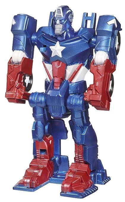 Marvel Transforming Avengers 13 cm Captain America Flip & Attack Figurine