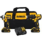 DEWALT DCK277C2 20V MAX Compact Brushless Drill and Impact Combo Kit (Color: Yellow/Black Compact Brushless Drill and Impact Combo Kit)
