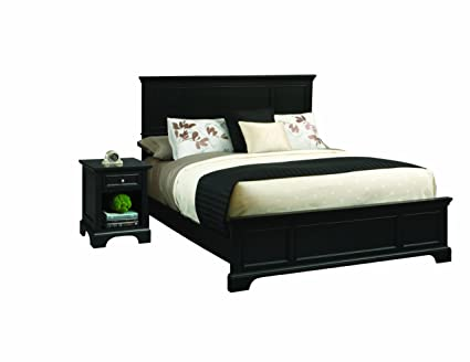 Home Styles 5531-6013 Bedford Bed Frame and Night Stand, King, Black