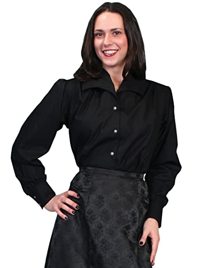 Wahmaker By Scully Womens Wide Lapel Blouse  AT vintagedancer.com