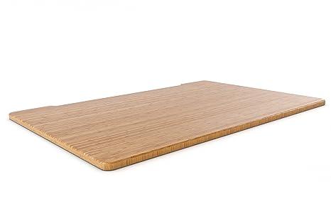 SMART2ERGO solido Carbonised Bamboo scrivania | eco-friendly | bella aggiunta alla casa ufficio o ufficio | vero bambù (no impiallacciatura) | durevole e resistente | lunghezze disponibili: 1400mm–1600mm 1400mm Bamboo