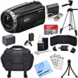 Sony HDR-CX675/B Full HD Handycam Camcorder Bundle includes HDR-CX675/B Handycam, Filter Kit, Battery, Charger, 32GB microSDHC Memory Card, Tripod, Bag, Cleaning Kit, Beach Camera Cloth and More!