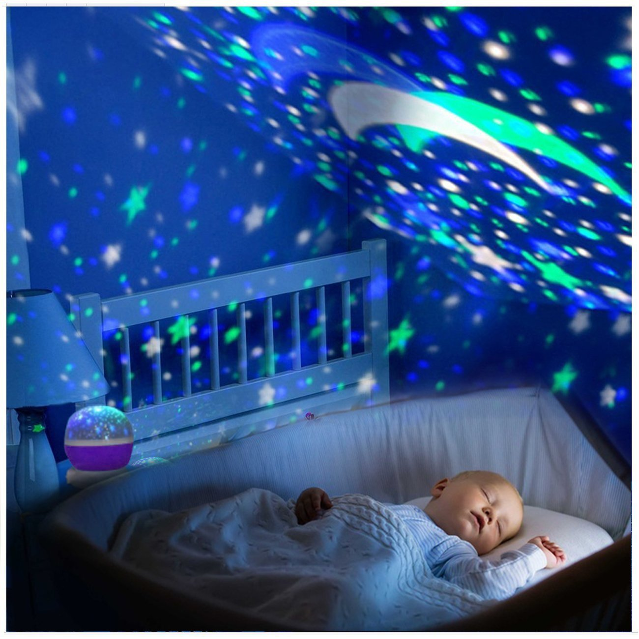 Baby Night Light Star Projector