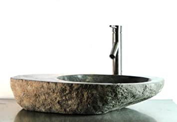 Big River Stone With Vessel Sink And Tray Bar Bathroom Flat Deck Area r10bl