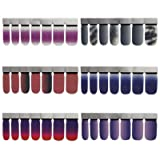 6 Sheets Full Nail Wraps Art Polish Stickers Decal Strips Adhesive False Nail Design Manicure Set With 1Pc Nail Buffers FilesFor Women Girls (Color: 26-B2)