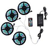 Richsing LED Strip Lights 65.6ft/20M RGB LED Light Strip with Remote SMD2835 4 Pack 1200LEDs 12V Led Lights for Room Garden Party (Color: Rgb-no White, Tamaño: 65.6ft-No White)