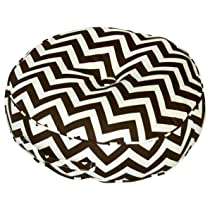 20-Inch Brown Round Pillow