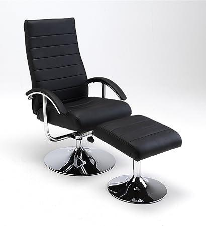 Relaxset Lederimitat schwarz