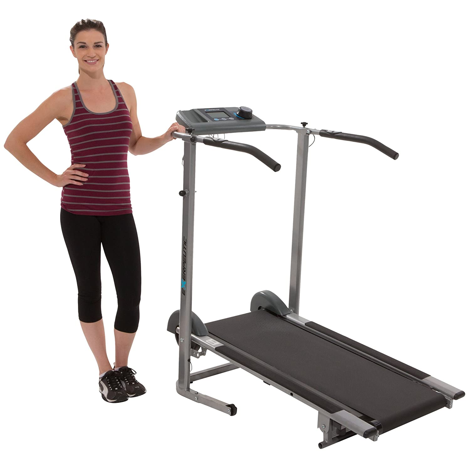 Exerpeutic Magnetic Resistance Manual Treadmill with Heart Pulse System