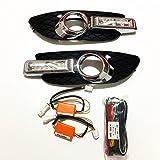 July King LED Daytime Running Lights for Mitsubishi Lancer 2008-2012, 6000K LED Front Bumper DRL With Light Guide Strip