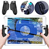 PUBG Mobile Controller for iPad - Aovon [2019 Upgrade Version] Sensitive Shoot Aim Gamepad Trigger for PUBG/Knives Out, Support 4.5-12.9 inch Tablet & Smartphone (Color: PUBG Mobile Controller - E(Black))