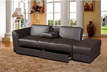 Sofá cama Kensington - marrón