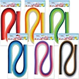 JUYA Paper Quilling Set 54cm Length Up to 42 Shade Colors 6 Pack(42 Colors,Width 7mm) (Color: 42 Colors, Tamaño: Width 7mm)