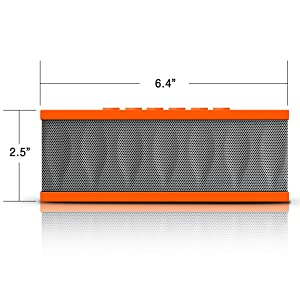 Photive CYREN Portable Wireless Bluetooth Speaker with Built in Speakerphone & 8 hour Rechargeable Battery - Orange