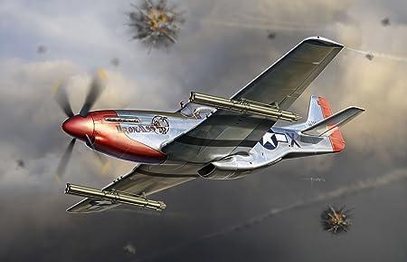 1:32 Warbirds Série P-51K Mustang Avec Kit M10 Rocket Launcher Modèle