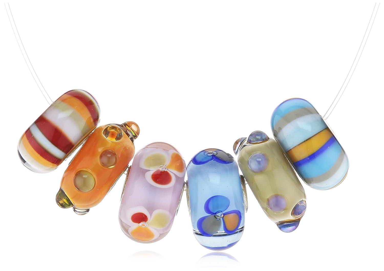 Trollbeads Damen-Bead Fröhliches Sommer Set Glas 925 Sterling Silber 63046 günstig kaufen