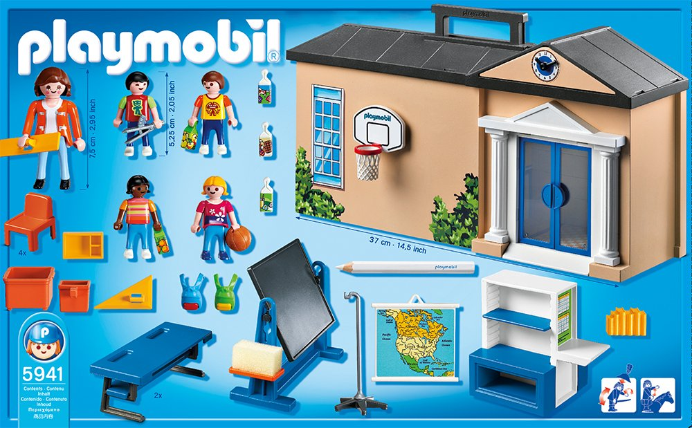 Playmobil take along school playset new free shipping - Table de jeu playmobil ...