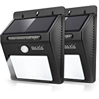 2-Pack Baxia Technology Wireless Security Motion Sensor Solar Night Lights